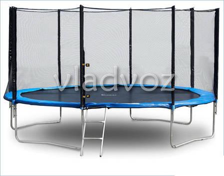 Батут детский уличный с защитной сеткой и лестницей для дачи Funfit 435 см., фото 2