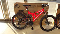 Горный подростковый велосипед 24 дюйма Azimut Shock красный