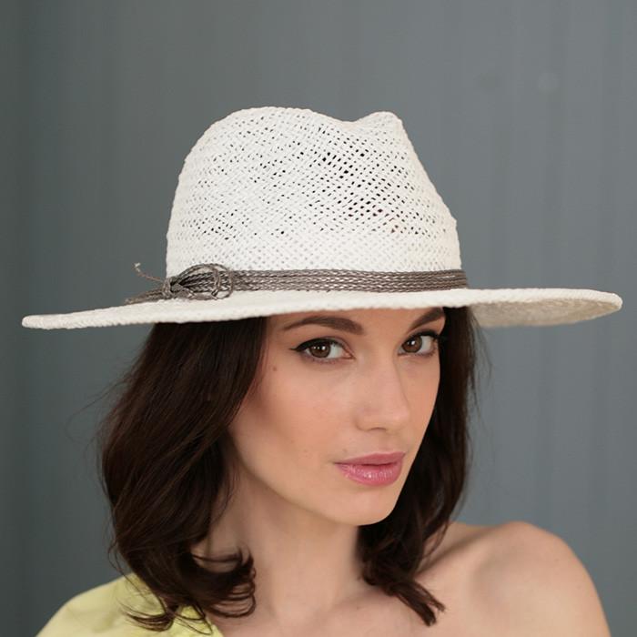 Молодіжна капелюх середні поля з соломки поля 10 см розмір 55-59
