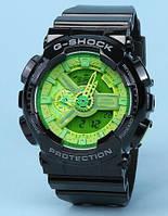 Копия спортивных часов Casio g-shock Ga-110 Black Green AAA
