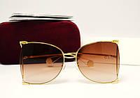 Женские солнцезащитные очки Gucci GG00252 (Brown), фото 1
