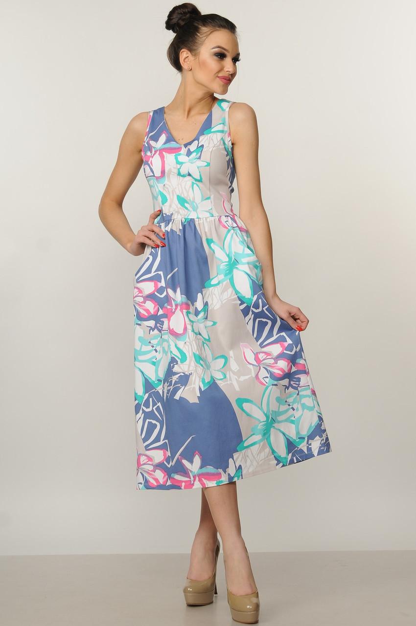 b301f27a597 Купить Женственное летнее платье-сарафан из хлопка по выгодной цене ...