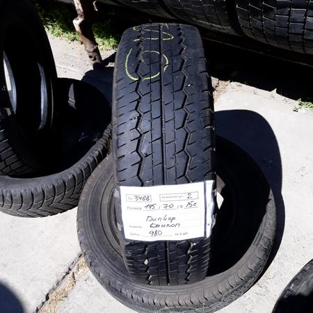 Шины б.у. 195.70.r15с Dunlop SP LT30 - 8 Данлоп. Резина бу для микроавтобусов. Автошина усиленная. Цешка