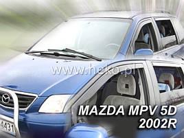 Дефлектори вікон (вітровики) Mazda MPV 1999-> 4D 4шт (Heko)