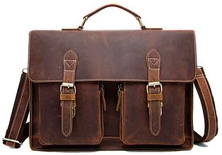 Портфель мужской кожаный MARRANTI M9033, коричневый