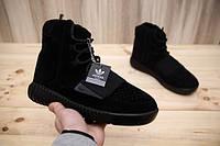 Зимние мужские угги-кроссовки  Adidas Yeezy Boost 750 Black
