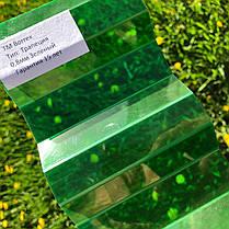 Зеленый   профилированный  поликарбонат  1,05*3м, фото 3