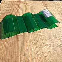 Зеленый   профилированный  поликарбонат  1,05*4м, фото 2