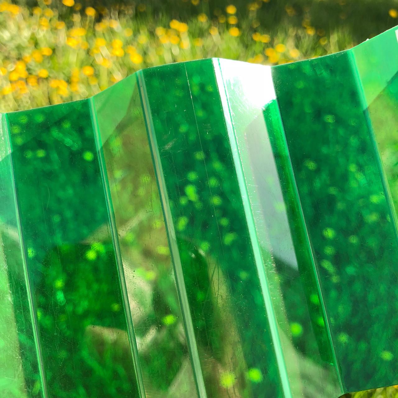 Зеленый   профилированный  поликарбонат  1,05*4м