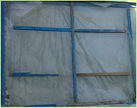 Установка прозрачной, термоусадочной плёнки вместо стёкол