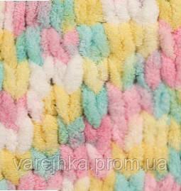пряжа для вязания руками Alize Puffy Color 5862 ализе пуфи колор