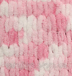 пряжа для вязания руками Alize Puffy Color 5863 ализе пуфи колор