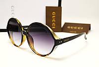 Женские солнцезащитные очки Gucci 17154 copy (коричневый лео), фото 1