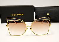 Солнцезащитные очки Linda Farrow LF 813 Lux (коричневый градиент), фото 1