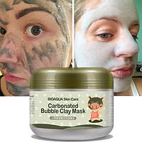 Маска для лица глиняно-пузырьковая Carbonated Bubble Clay Mask Bioaqua, фото 1