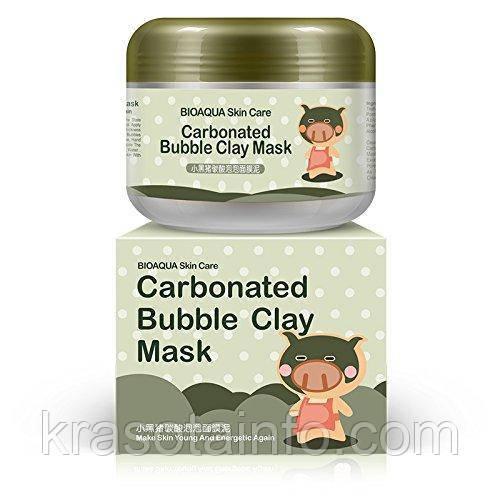 Маска для глубокой очистки пор глиняно-пузырьковая Carbonated Bubble Clay Mask Bioaqua, 100 мл