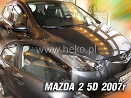 Дефлектори вікон (вітровики) MAZDA 2 - 5d 2007R→ (HEKO) 4шт