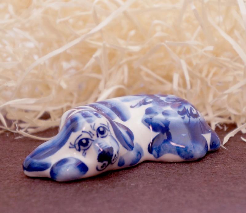 Фигурка керамическая Собачка Ленивец