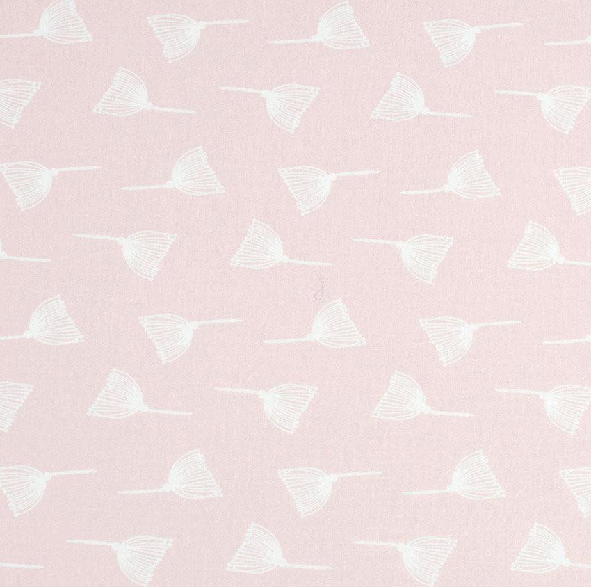 "Хлопок премиум 50х40 см ""Одуванчики белые"" на нежно-розовом"