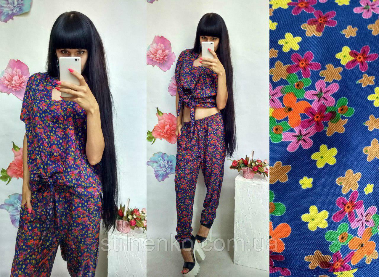 Стильний летний костюм для женщин в цветочек
