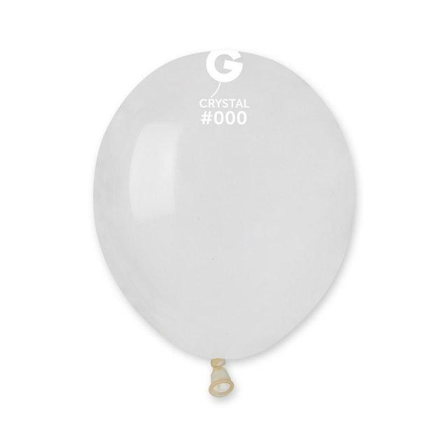 """Прозрачные Кристалл 5"""" (13 см). Латексные воздушные шарики 100 шт. ТМ Gemar"""