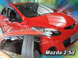 Дефлектори вікон (вітровики) MAZDA 2 5d 2009R→(HEKO)