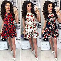 Платье  цветастое  #384, фото 1