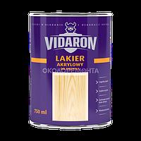 Лак акриловый для древесины Vidaron бесцветный шелковистый глянец 0,75 л
