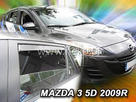 Дефлектори вікон (вітровики) MAZDA 3 5d 2009r→HTB(HEKO)