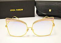 Солнцезащитные очки Linda Farrow LF 813 Lux (розовое зеркало), фото 1