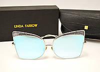 Солнцезащитные очки Linda Farrow LF 813 Lux (голубое зеркало), фото 1