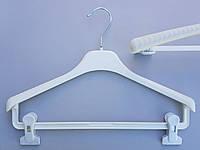Плечики вешалки пластмассовые V-Tz38 белые, 38  см
