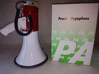 Переносной рупор, мегафон, громкоговоритель со съемным микрофоном и записью SD-10SH-B