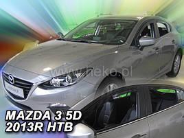 Дефлекторы окон (ветровики)  Mazda 3  5d 2013r htb/sed (Heko)