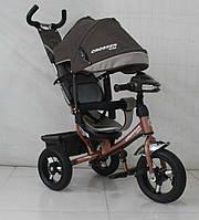Детский трехколесный велосипед Азимут Crosser T1 фара, надувные колеса