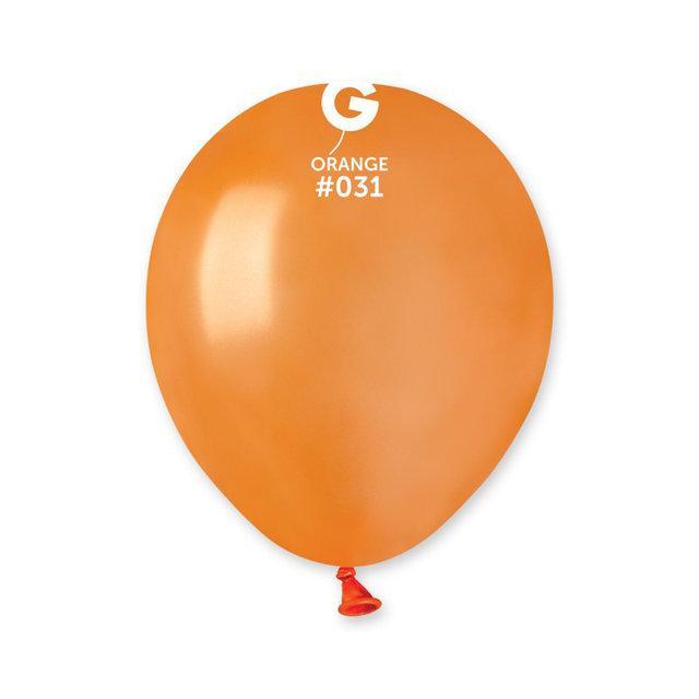 """Металлик оранжевые 5"""" (13 см). Латексные воздушные шарики 100 шт. ТМ Gemar"""
