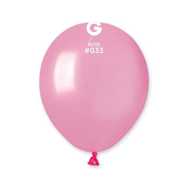 """Металлик розовые 5"""" (13 см). Латексные воздушные шарики 100 шт. ТМ Gemar"""