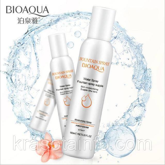 Термальная вода Увлажняющий спа спрей для лица BIOAQUA Moisturizing Fountain Spray