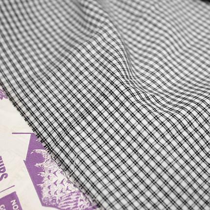 Рубашечная ткань принт клетка D-102 (от 10 метров), фото 2