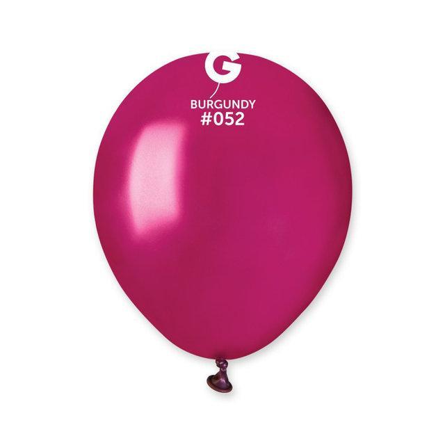 """Металлик бургунди 5"""" (13 см). Латексные воздушные шарики 100 шт. ТМ Gemar"""