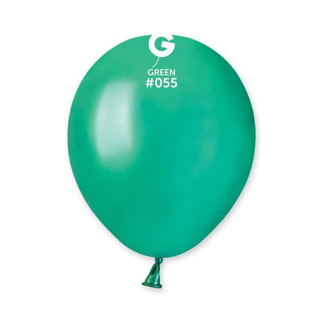 """Металлик зеленые 5"""" (13 см). Латексные воздушные шарики 100 шт. ТМ Gemar"""
