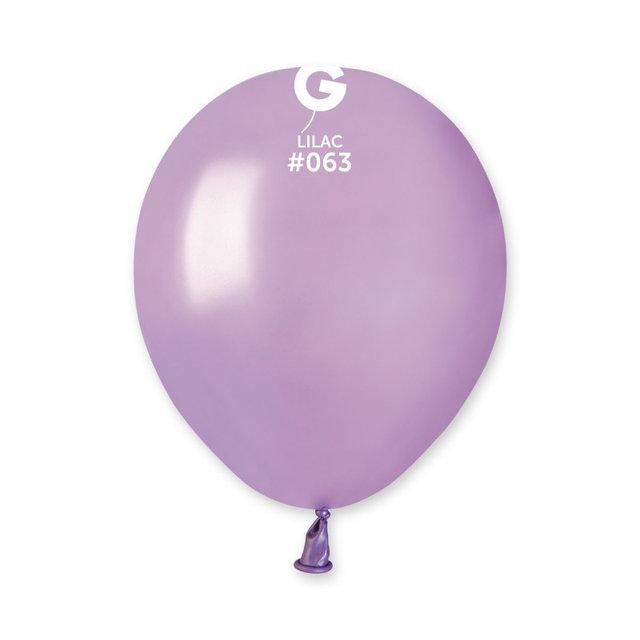 """Металлик сиреневый 5"""" (13 см). Латексные воздушные шарики 100 шт. ТМ Gemar"""