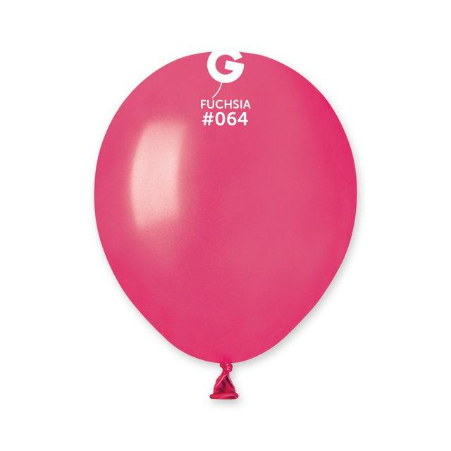 """Металлик розовые Фуксия 5"""" (13 см). Латексные шарики 100 шт. ТМ Gemar"""