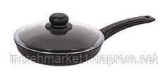Сковорода БИОЛ 1804ПC (диаметр 180 мм) алюминиевая с антипригарным покрытием, крышка