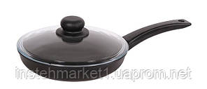 Сковорода БИОЛ 2404ПC (диаметр 240 мм) алюминиевая с антипригарным покрытием, крышка, фото 2
