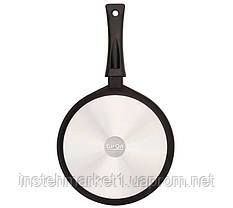 Сковорода БИОЛ 1804ПС (діаметр 180 мм), алюмінієва з антипригарним покриттям, кришка, фото 2