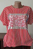 Блуза женская полоска с завязками, фото 1