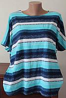 Блуза женская полоска бирюза