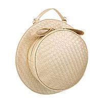 Круглая женская сумка в форме шляпы, сумка-трансформер (Европа) Светло-золотой