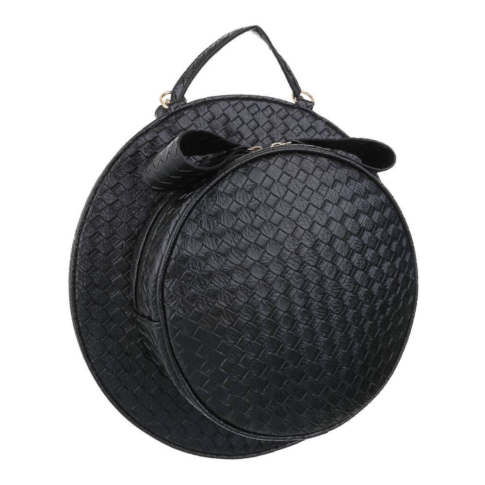 1ea3ad0662a8 Женская круглая наплечная сумка в форме шляпы (Европа) Черный -  Интернет-магазин Denim